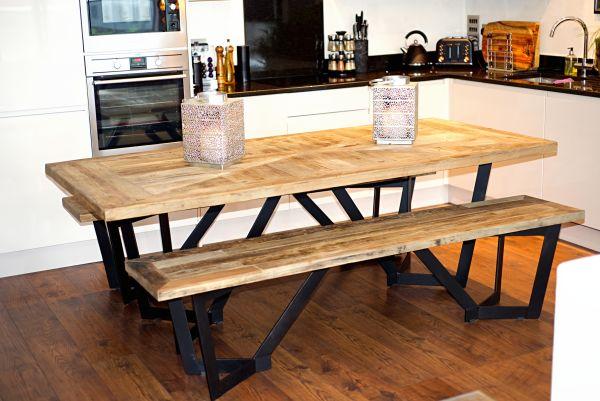 Sunningdale Recycled Elm Rectangular Dining Set Image 1