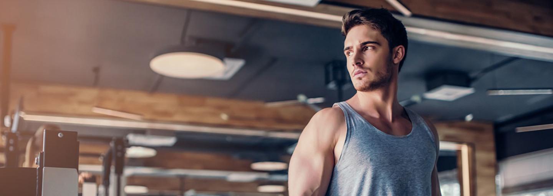 Ragazzo massa muscolare