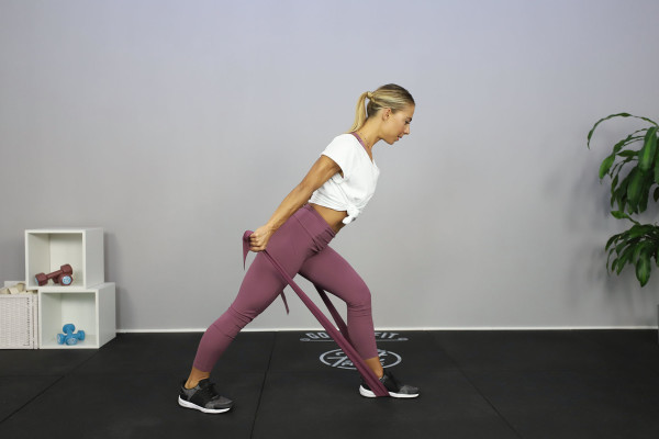 Low elastic band workout