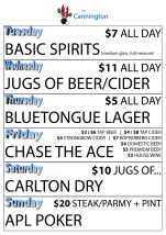 $3  Middys at The Cannington