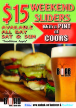 $15 Weekend Sliders at Boab Tavern