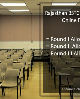 Rajasthan BSTC Counselling, Online Form, Round 1-2-3 Seat Allotment @bstc2017.com