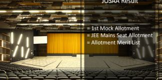 JOSAA First Mock Allotment,JEE Mains Seat Allotment Result