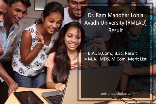 RMLAU Result- Avadh University BA BSC BCOM MA MDS MCOM Results