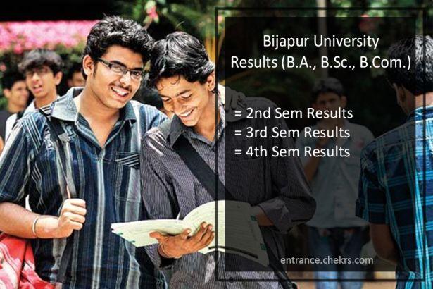 Bijapur University KSWU BA BSC BCOM Result, 2nd-4th-6th Semester Results