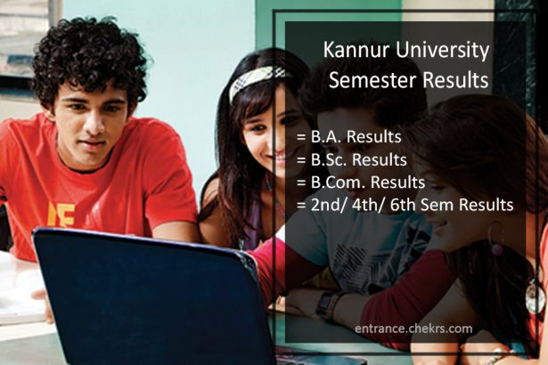 Kannur University BA-BSC-BCOM Result, 2nd/ 4th/ 6th Semester Results