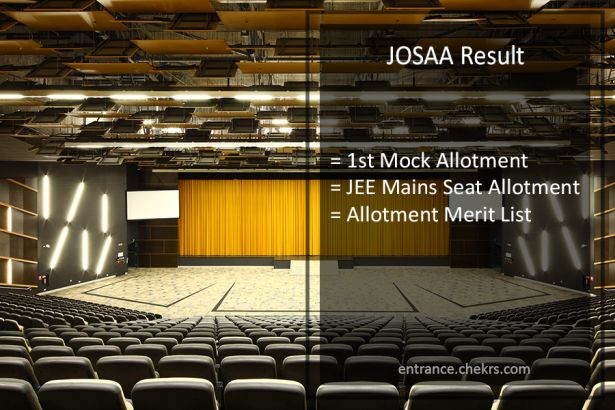 JOSAA First Mock Allotment , JEE Mains Seat Allotment Result