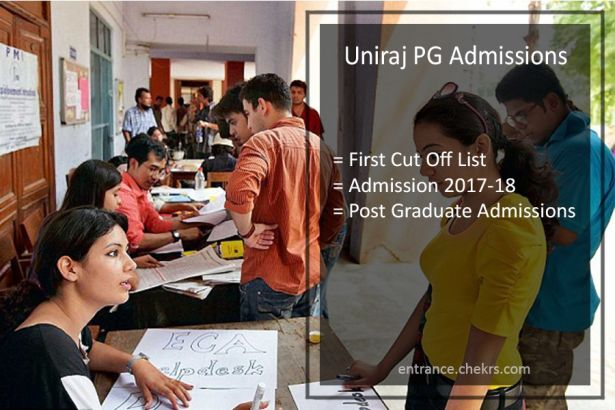 Uniraj PG Admissions, First Cut Off List Will Declare Today