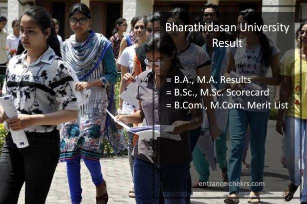 Bharathidasan University BA BSC BCOM Result, BDU MA MSC MCOM Results