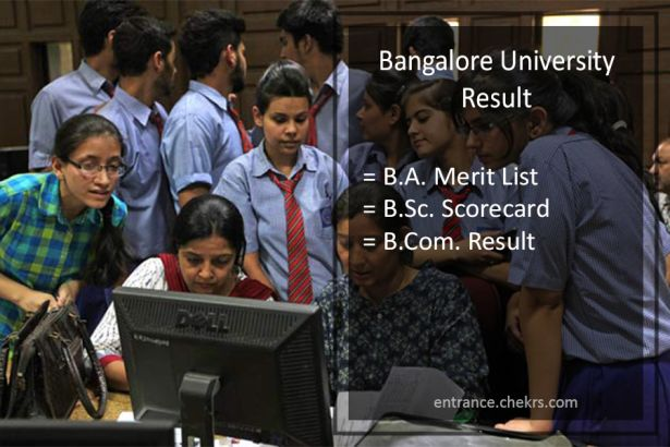 Bangalore University BA BSC BCOM Result, 2nd 4th 6th Sem Results