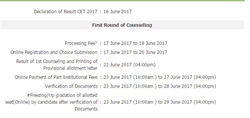 CET Delhi Polytechnic Counselling 2017 Schedule, 1st 2nd 3rd 4th Seat Allotment Result