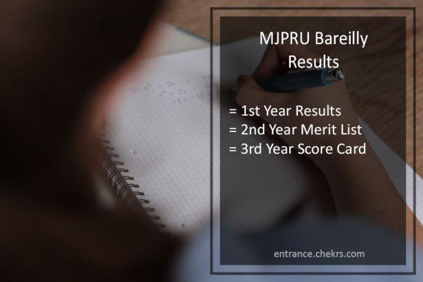 MJPRU Bareilly Result 2017- BA BSC BCOM Part 1st 2nd 3rd Year Results