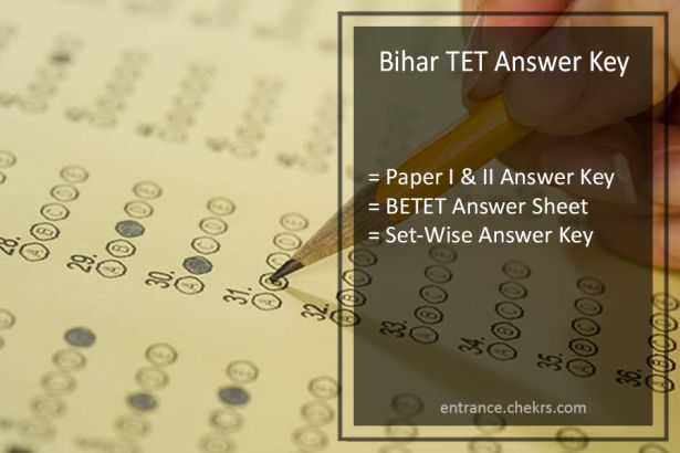 Bihar TET Answer Key, Paper I & II, BETET 29th June Exam Answer Sheet