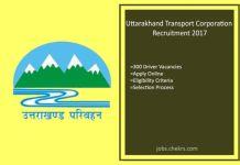 Uttarakhand Transport Corporation Recruitment Driver 300 posts