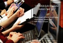 UP Police SI Admit Card Download UPPRPB Sub Inspector Call Letter