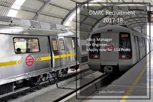 DMRC Recruitment Asst Manager, Jr Engineer 114 Posts Apply now