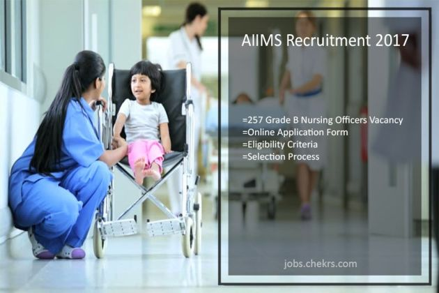 AIIMS Recruitment- 257 Grade B Nursing Officers Vacancy Notification