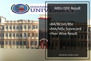 MDU DDE BA-BSC-BCOM Result - 1st/ 2nd/ 3rd Year MA MSC Results