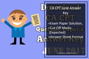 CA CPT Answer Key- 18th June Exam Paper Solution, Cut Off Marks (Expected)