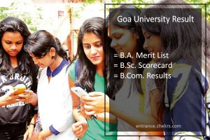Goa University Result- BA BSC BCOM (2nd-4th-6th) Semester Results