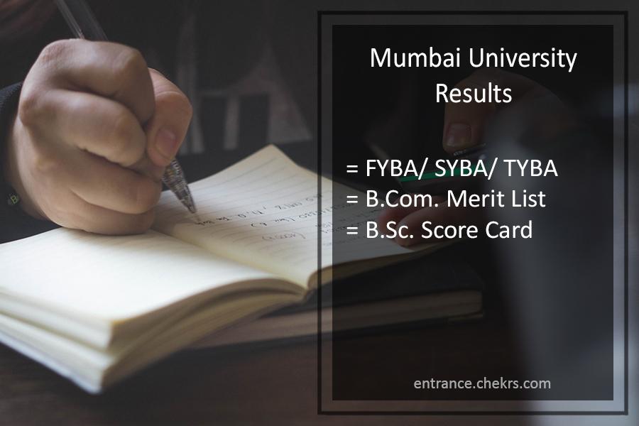 Mumbai University FYBA-SYBA-TYBA Result - BCOM BSC Result