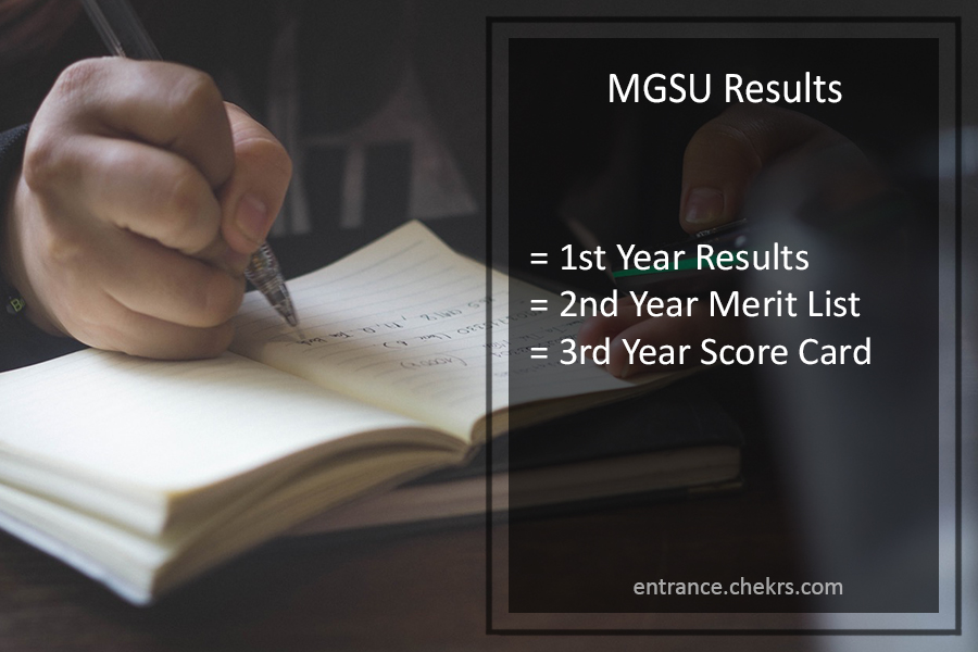 MGSU BA BSC BCOM Result - Part 1st 2nd 3rd Year Results @mgsubikaner.ac.in