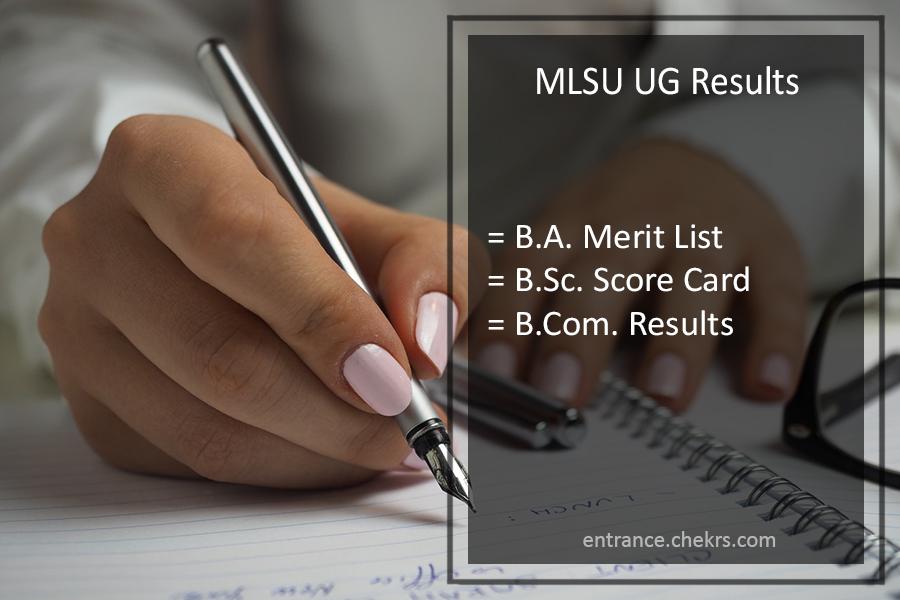 MLSU UG Result - BA BSC BCA LLB B.Ed 1st-2nd-3rd Year Results