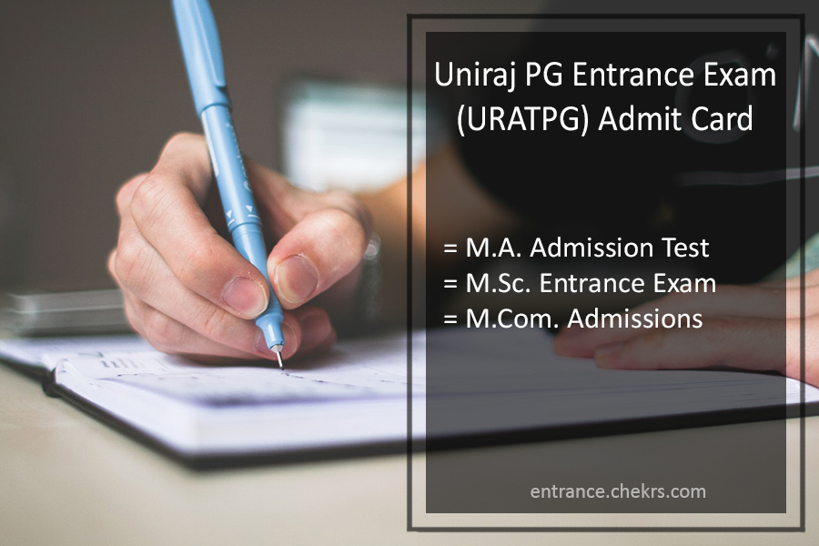 Uniraj PG Entrance (URATPG) Exam Admit Card - MA MSC MCOM Admission Test Hall