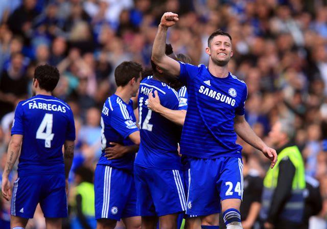 Cahill celebrates our title triumph in 2014/15