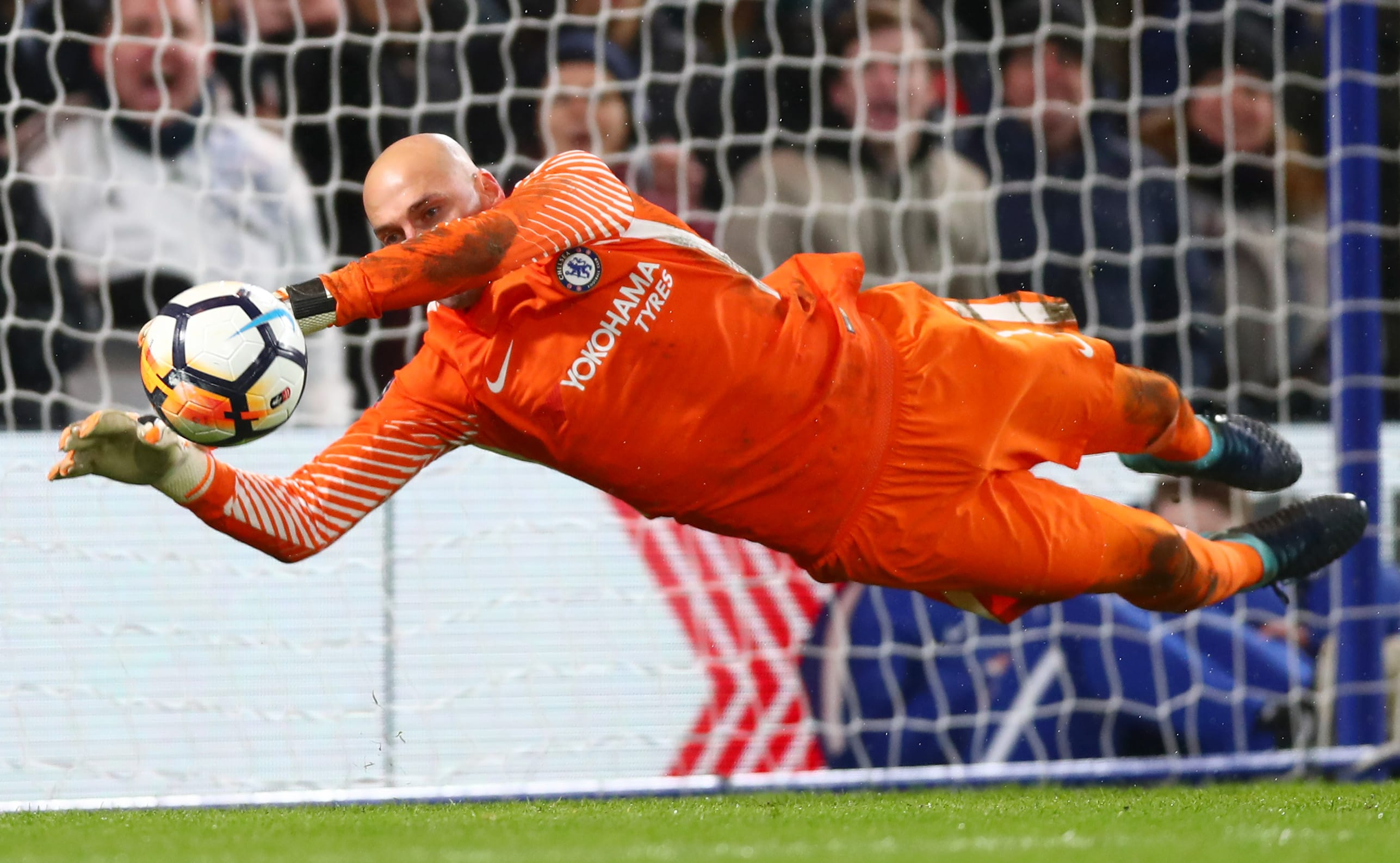 Caballero saves the decisive penalty in the Norwich FA Cup penalty shoot-out