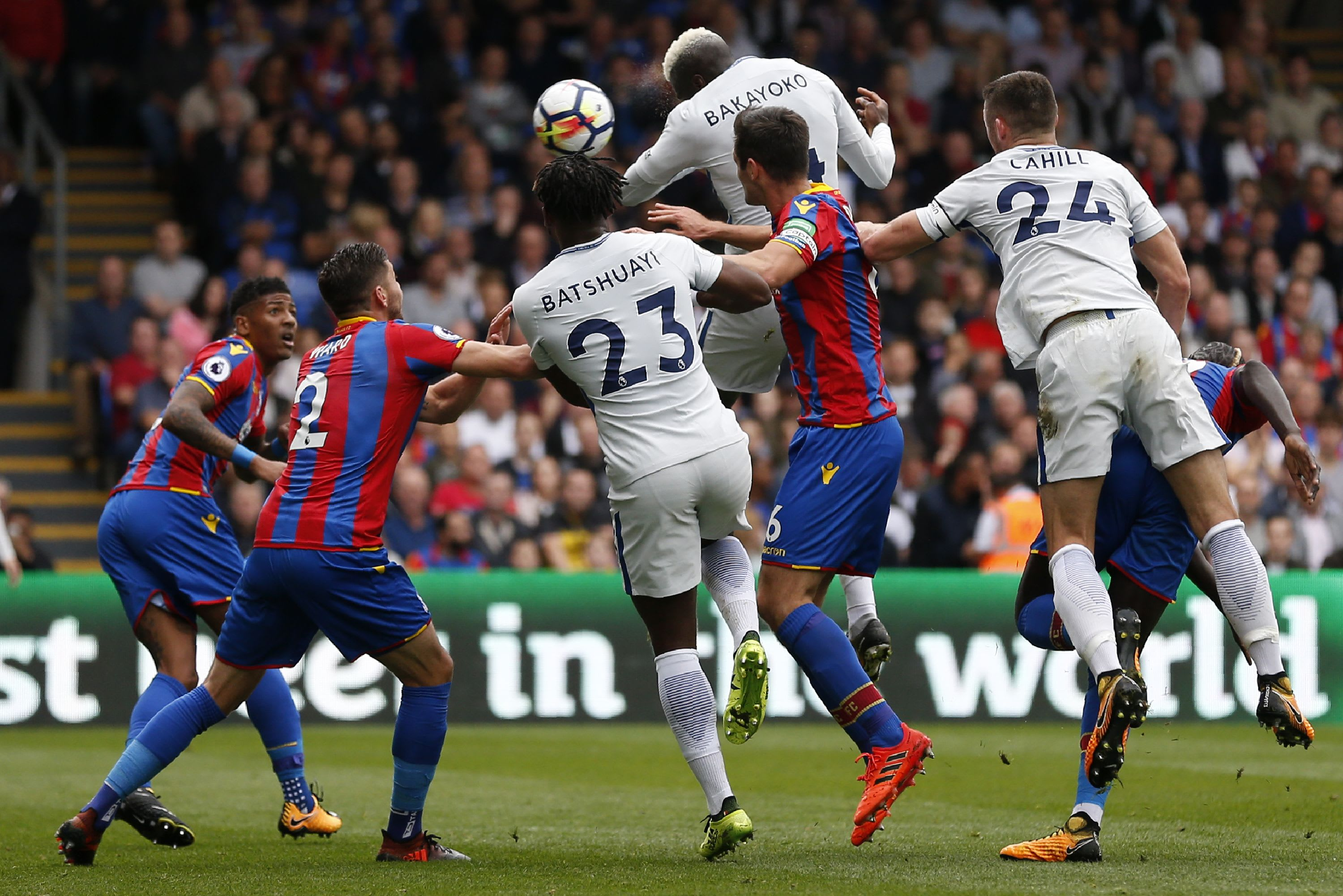 Tiemoue Bakayoko heads home against Crystal Palace