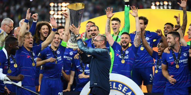 Maurizio Sarri reveals his half-time instructions and celebrates 'deserved'  Europa League triumph | Official Site | Chelsea Football Club