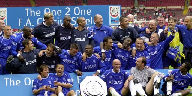 Image result for chelsea charity shield 2000