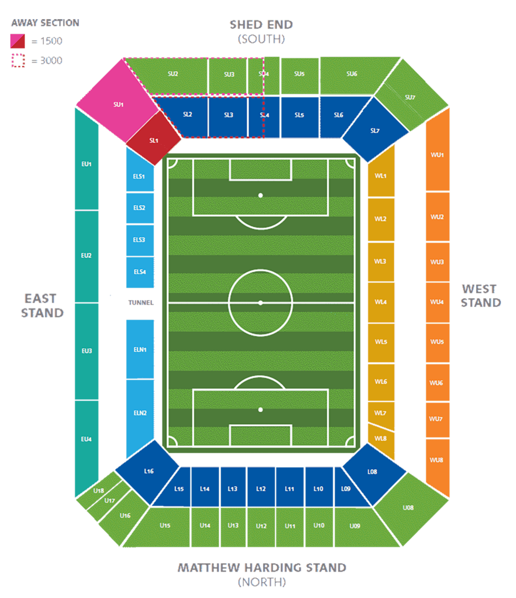 Seating Plan Official Site Chelsea Football Club