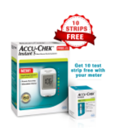 New Accu-Chek Instant S Blood Glucose Meter with 10 Test Strip Free