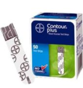 Bayer Contour Plus Blood Glucose Test Strip