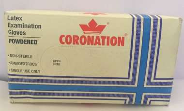 Coronation Latex Examination Gloves 100 (small)