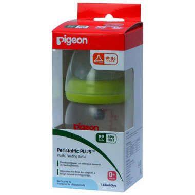 Pigeon Nursing Bottle With Plus Type Nipple Green
