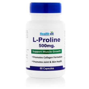Healthvit L-proline 500mg Capsule