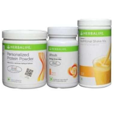 Herbalife Formula 1 500gm (orange), Personalizes Protein Powder 200gm And Afresh Energy Drink Mix 50