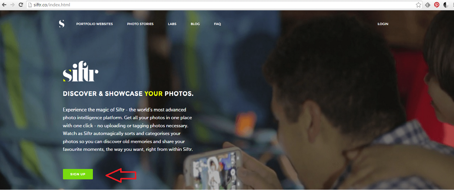 photography website in minutes