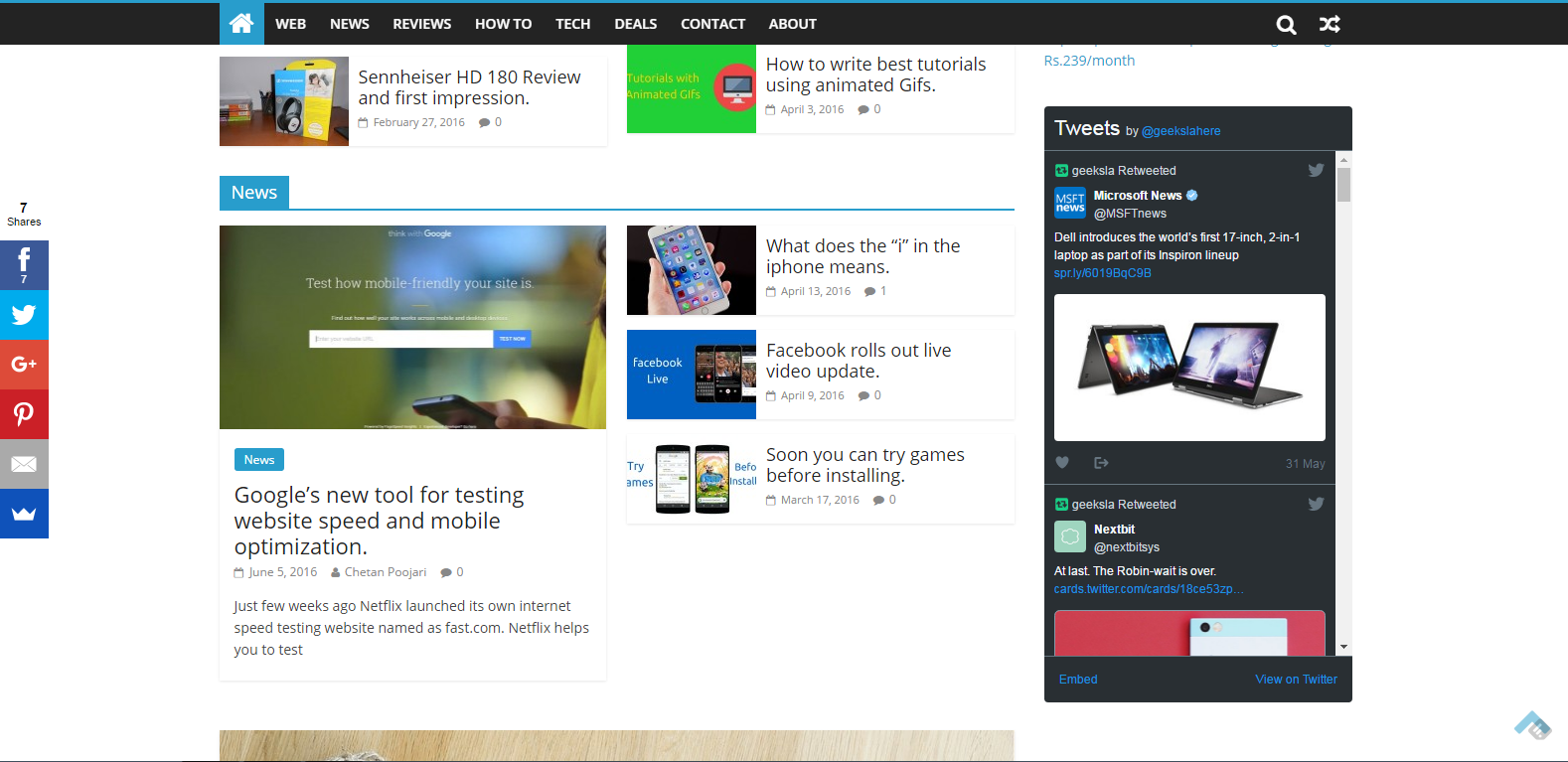 add twitter feeds to website