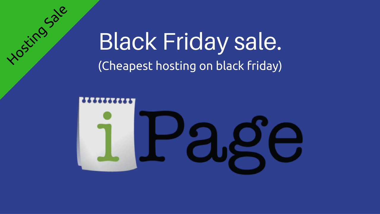 ipage black Friday 2016 sale