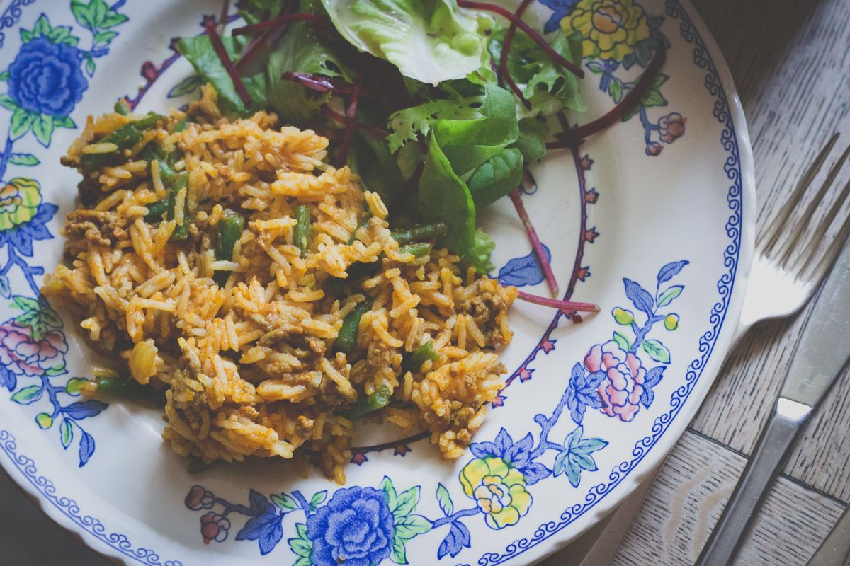 Lubia Polo Recipe: Persian Rice with Lamb and Green Beans