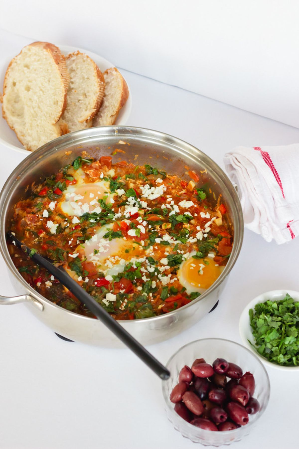 Spinach and Pepper Shakshuka Recipe