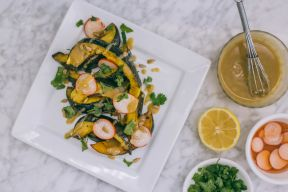 Mediterranean Roasted Acorn Squash Recipe Cover Image
