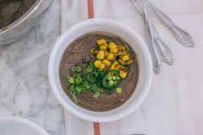 Smoky Vegan Black Bean Soup Recipe Cover Image