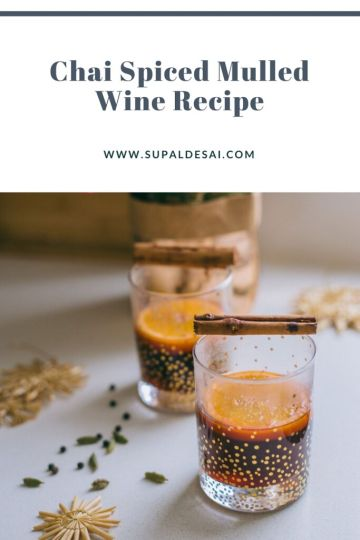 Chai Spiced Mulled Wine Recipe
