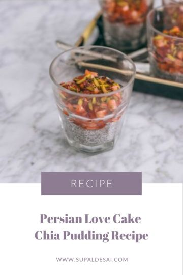 Persian Love Cake Chia Pudding Recipe