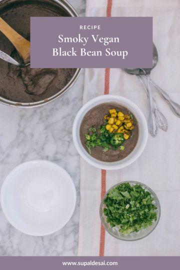 Smoky Vegan Black Bean Soup Recipe